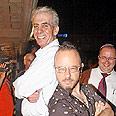 Kobi Oz (R), organizer, with Eli Moyal Sderot's mayor