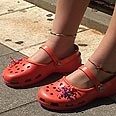 Crocs. Rabbi thinks they're comfortable Photo: Shai Rosenzweig