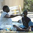 Sudanese refugees in Beersheba Photo: AFP