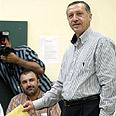 Erdogan at the polls Photo: AP