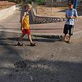 Crash site in Sderot high school (archives) Photo: Amir Cohen