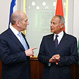 PM Olmert with Abul Gheit Photo: AFP
