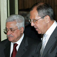 Abbas with Lavrov in Moscow Photo: AFP
