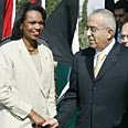 Rice a meets Fayyad Photo: Reuters