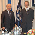 Peres with Store Photo: Yisrael Noy