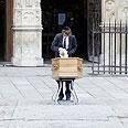 Lustiger's casket Photo: AFP