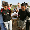 Evacuating the wounded in Gaza Photo: AFP