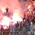 Hapoel fans in Bosnia Photo: Channel 10
