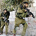 Soldiers operating in Nablus Photo: AP
