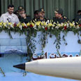Missile displayed during parade Photo: AP