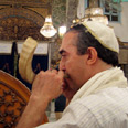 Blowing the shofar in Damascus Photo: Ron Ben-Yishai
