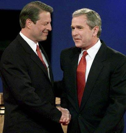 גור זכה ביותר קולות בוחרים, אבל בוש קיבל יותר אלקטורים בזכות פלורידה (צילום: רויטרס)