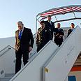 Olmert arrives in Paris Photo: GPO