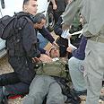 Riots in Peki'in Photo: Israel Police