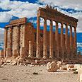 המקדש לאל בעל באתר עתיקות ארכיאולוגי בתדמור