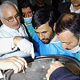 Ahmadinejad at uranium enrichment plant Photo: AFP