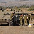 Tanks at Golan drill Photo: Avihu Shapira