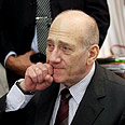 Olmert at Knesset committee Photo: Gil Yohanan