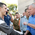 Dichter meets recruits Photo: Yaron Brenner
