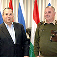 Barak on Tuesday with visiting Hungarian chief of staff Photo courtesy of MoD