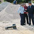 Qassam in Sderot Photo: Zeev Trachtman, Din Veheshbon