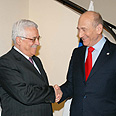 Abbas (L) with Olmert in J'lem Photo: Moshe Milner, GPO