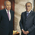 Fayyad with Peres on Saturday Photo: Reuters