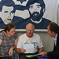 Shalit's parents at their protest tent Photo: Gil Yohanan