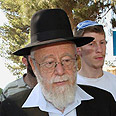 Rabbi Dov Lior. Arrested and released Photo: Gil Yohanan