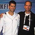 Tamir Kfir with Novak Djokovic Photo: Tamir Kfir