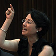Hanin Zoabi in action Photo: Ohad Zwigenberg