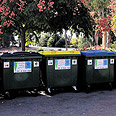 Waste separation containers (Illustration) Photo: Nimrod Glickman