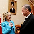 Hillary Clinton with Turkish PM Erdogan last month Photo: MCT