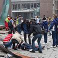 Scene of Oslo attack Photo: Reuters