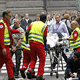 Evacuating the wounded in Norway Photo: AFP