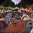 Rothschild Blvd's tent city Photo: Omri Bigetz