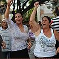 'The people demand public housing' Photo: Yaron Brener