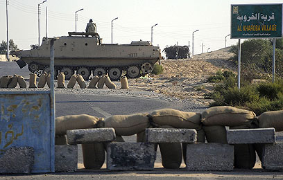 Egyptian military post in Sinai (Photo: AFP)