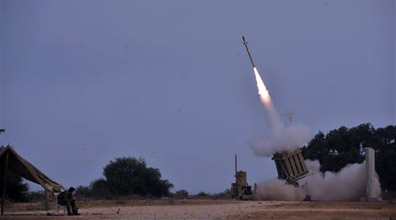 Iron Dome in action (Photo: Avi Rokach)