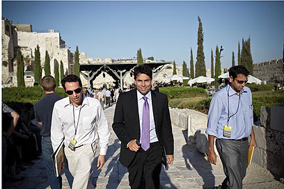 MK Danny Danon attended the rally (Photo: Noam Moskovich)