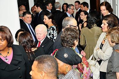 Multi cultural Iftar meal at Israeli Embassy