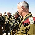 IDF chief Gantz. Reinforcement of military presence Photo: IDF Spokesperson's Office