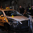 Stolen taxi used in attack Photo: Yaron Brener