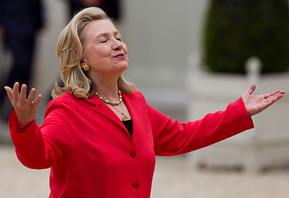Clinton. Seeking conducive environment to direct talks (Photo: EPA)