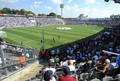 אצטדיון בלומפילד. לא יעתיק את מקומו למקום אחר בתל אביב (צילום: יובל חן)
