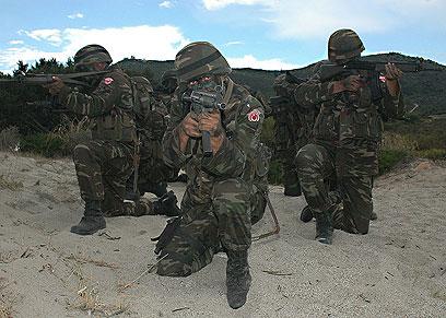 מעל 612 אלף כוחות צבא בשירות סדיר. חיילים טורקיים ()
