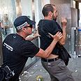 Clashing with police Photo: Ben Kelmer