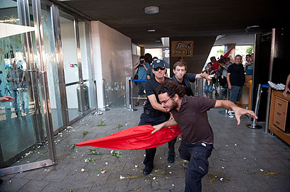 Social protesters clash with police (Photo: Ben Kelmer)