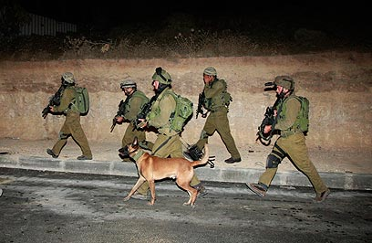 IDF soldiers deploy to arrest terrorists with Shin Bet intelligence (Photo: AP/archive)