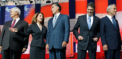 Top Republicans at debate (Photo: AP)